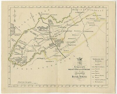 Antique Map of the West-Stellingwerf township by Behrns (1861)