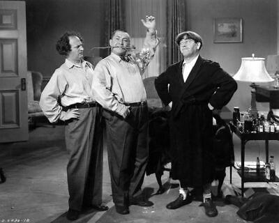 The Three Stooges 8X10 Publicity Photo Excellent Quality Borderless Photo