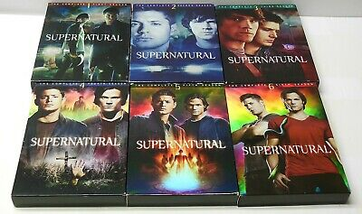 SUPERNATURAL TV SHOW COMPLETE Seasons 1 2 3 4 5 6 DVD Set Lot VG Cond. TESTED