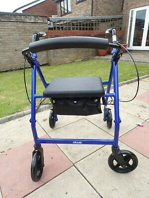 Four Wheeled Mobility Walker with Underseat Basket-Excellent Condition