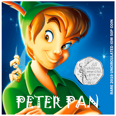 50p IOM 2019  PETER PAN BRAND NEW RELEASE(ONLY ONE FOR SALE)GREAT GIFT
