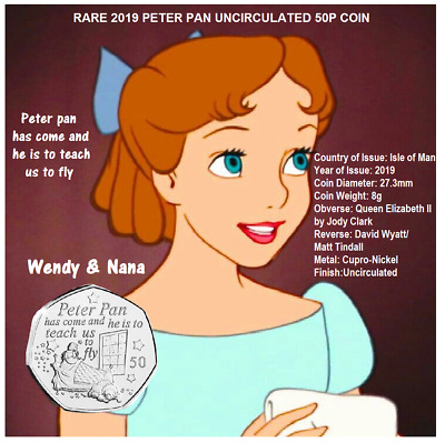 50p IOM 2019 PETER PAN BRAND NEW RELEASE(ONLY ONE FOR SALE) great gift