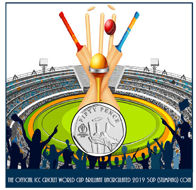 ONLY ONE FOR SALE.The Official ICC Cricket World Cup B/U 2019 50p