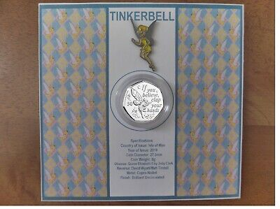 Iom 2019 Peter Pan Tinkerbell 50P & Pin (Only One For Sale) Pre-Order Great Gift