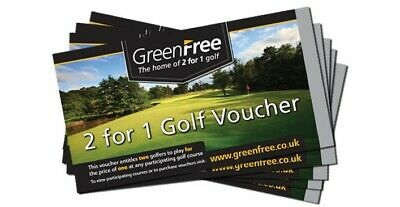 5 (Five) GREENFREE  2 for 1 golf vouchers (valid to 30th June 2020)