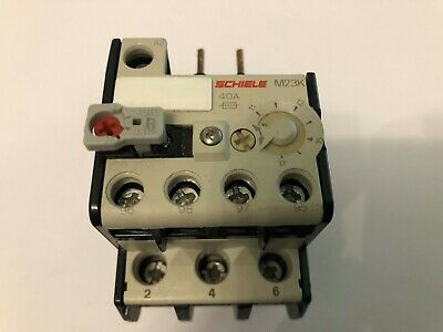 Schiele M40K Thermal Overload Relay 25-40A 637-27