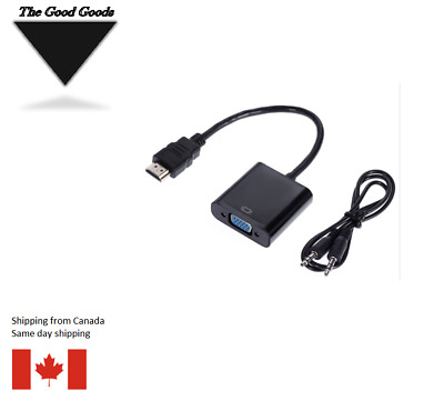 HDMI to VGA Adapter Male To Female Converter Adapter 1080P Digital to Analog