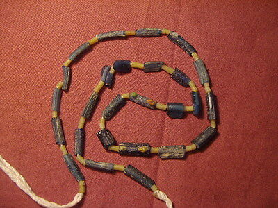 Ancient Fragment Glass Beads Strand Roman 200 BC #1657