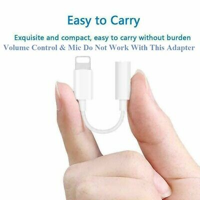 For Genuine Apple iPhone 7 8 XS XR Lightning to 3.5mm AUX Headphone Jack Adapter