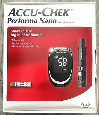 Accu Chek Performa Nano Blood Glucose Diabetic Monitor/Meter/System + Test Strip