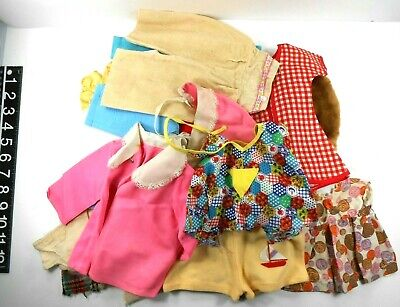 Vintage Baby Doll Handmade Clothes 50's 60's 70's For Various Size Dolls Lot 23