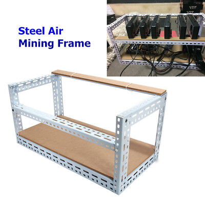 AU 6 GPU Miner Stackable Open Air Mining Rig Frame Case Coin ETH