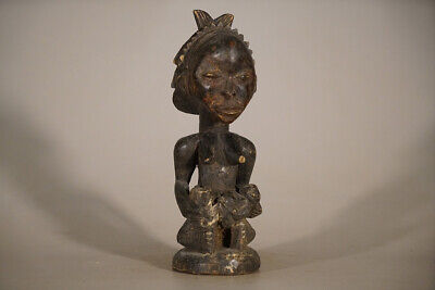 Sitting Mother and Baby Hemba Figure 13"