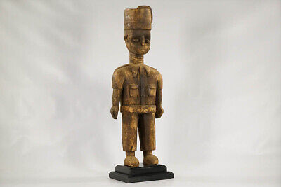 "Baule Colonial Statue 26.5"" - Ivory Coast - African Art"