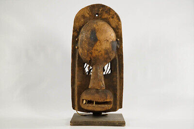 "Rudimentary Dogon African Mask 17.5"" with Stand - Mali - African Art"