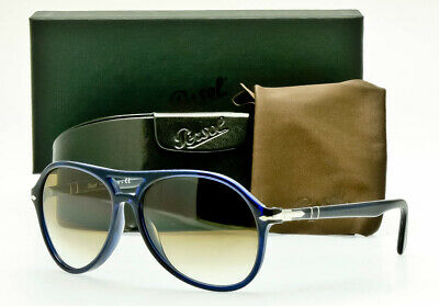 347255eaa35a NEW PERSOL SUNGLASSES PO3194S 107451 Blue Frame Gradient Brown 59mm ITALY  ITALY