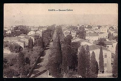 Haifa German Templars Colony 1928 Unusual Postcard Palestine Israel Judaica