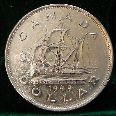 Canadian 1949 Commemorative Silver Dollar #1