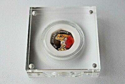Royal Mint Beatrix Potter Mr Jeremy Fisher Silver Proof 50p 2017 Limited Edition