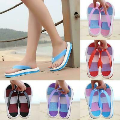 Ladies Women Flip Flops Beach Summer Toe Post Eva Sandal Shoes Summer Surf J5B3