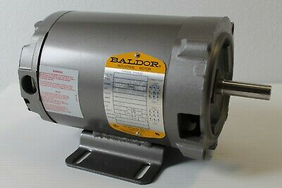 BALDOR Electric Motor 0.5HP 208-230/460V 3PH 3450RPM 56CZ FRAME 34-1954-2718