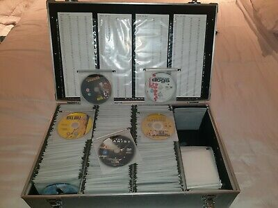 500+ DVDs in DJ case