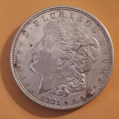 "*Vintage ""1921-D  U.s. $1.00  Morgan Dollar""-See & Use Photos To Determine Grade"