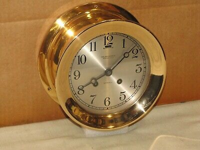 Chelsea Antique Ships Bell Clock~6 In. Dial~1917~Hinged~Red Brass~Restored