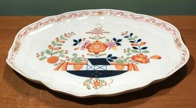 Antique Meissen Porcelain Hand Painted Floral Tray- Marked