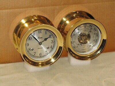 Chelsea Vintage Ships Bell Clock & Barometer~Boston Model~1991~Mint