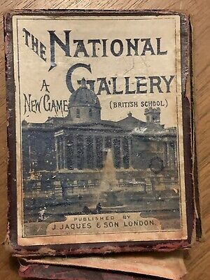 Vintage card game Pack National Gallery Jaques's Of London 1900's
