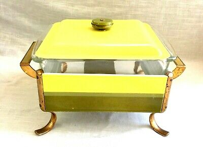 Vintage Mid-Century Anchor - Hocking Chafing Dish with Lid & Pyrex Liner