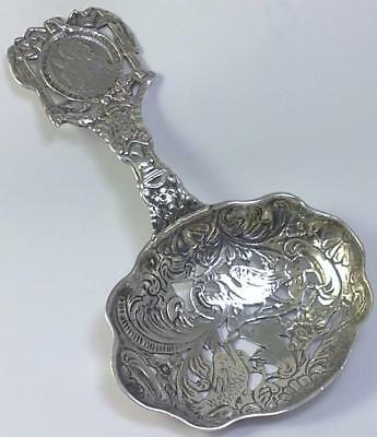 Victorian hallmarked Sterling Silver Serving / Strainer Spoon – 1899  (64g)