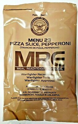 MRE US MILITARY - MENU 23 - Pizza Slice Pepperoni - inspection date of July 2021