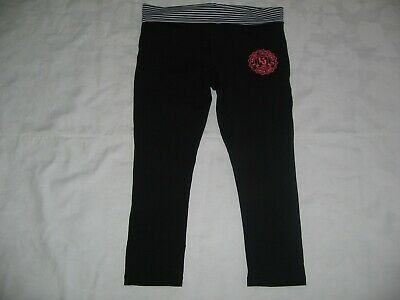 LORNA JANE X  2 (Size XS) STYLISH BLACK & GREY 3/4 LENGTH LEGGINGS.  NEAR NEW