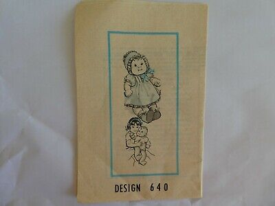"Cloth doll Sewing pattern for 18"" doll and her clothes vintage craft dollmaking"