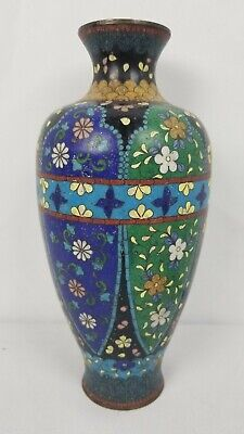 Antique Japanese Cloisonne Vase In Excellent Condition 9""
