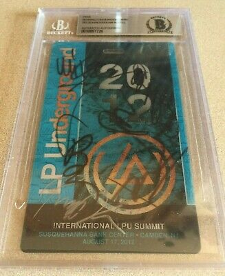 Linkin Park Chester Bennington Signed LPU Summit Pass BECKETT Shinoda BAS PSA