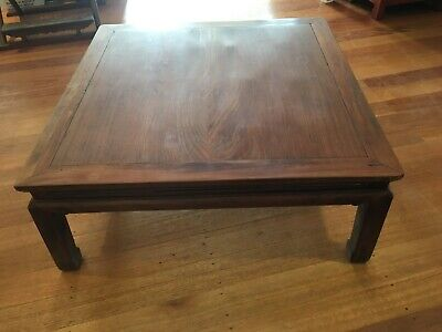 antique asian Chinese low table in  solid  jumu , chinoiserie