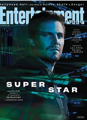 Entertainment Weekly Mag (July 19 2019) TV Superheroes; Arrow (Stephen Amell)