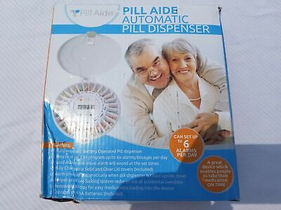 Pill Aide Automatic Pill Dispenser. Easy To Set Up To 6 Alarms Tamper Proof Lock