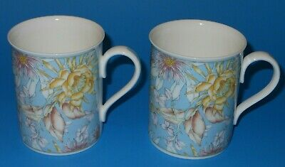 (3235z) Royal Grafton ENCHANTMENT colorful floral fine bone china mug x 2