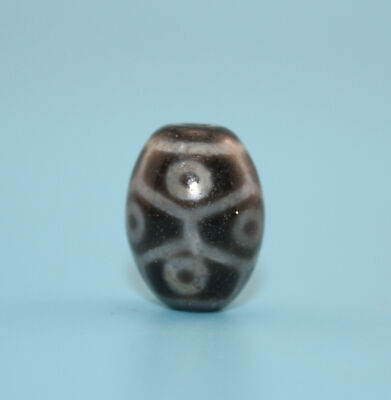 20*16 mm Antique Dzi Agate old 9 eyes Bead from Tibet **Free shipping**