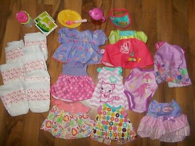 Hasbro Baby Alive Doll AUTHENTIC CLOTHES  Diapers Sippy All Gone Real Surprises