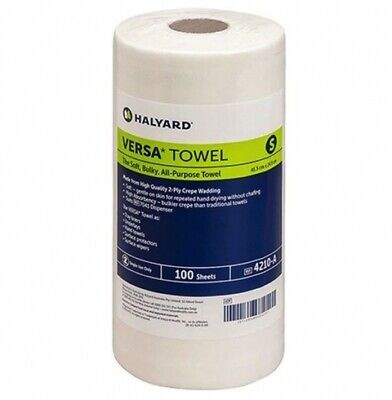 New Halyard Medical Small Versa Towel - White Carton (16 Rolls)