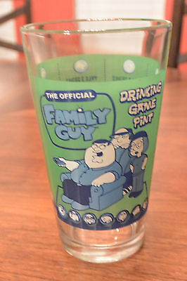 Official FAMILY GUY Drinking Game Pint Glass Complete with Rules & Instructions