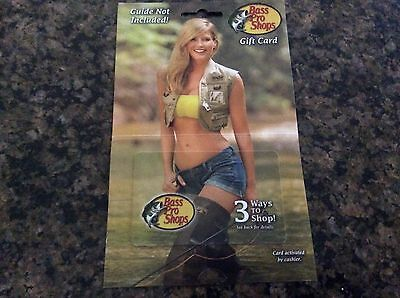 BASS PRO SHOPS Gift Card No $ Value (collectible only) unused SEXY Bikini Blonde
