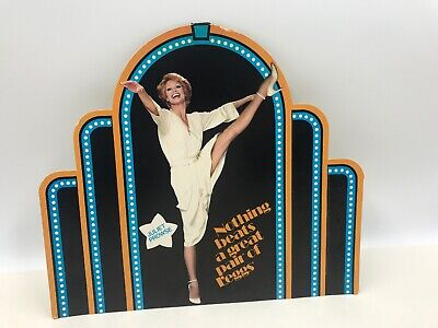 1970's - Juliet Prowse-L'EGGS Hosiery Advertising Sign Store Display Channel Top