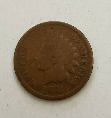 1874  Bronze INDIAN HEAD CENT Cent Penny