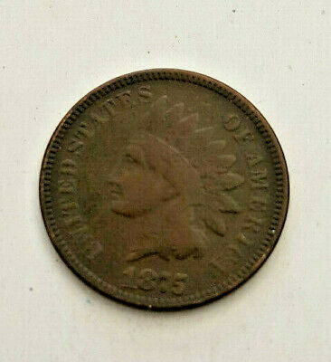 1875  Bronze INDIAN HEAD CENT Cent Penny